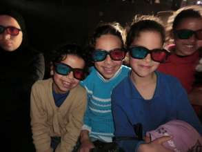 Movie time in action-packed 3-D!
