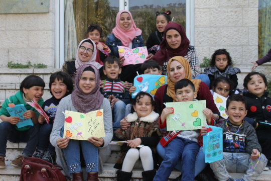 Core class shows their handmade Mother Day cards