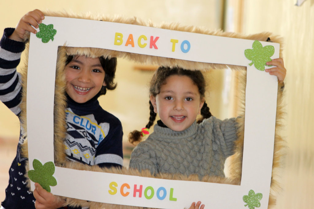 Yazan & Tala are so excited on their first day!