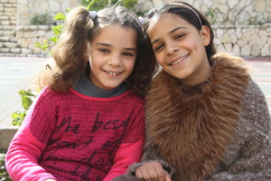Sisters Shahd (left) and Bara'a (right)
