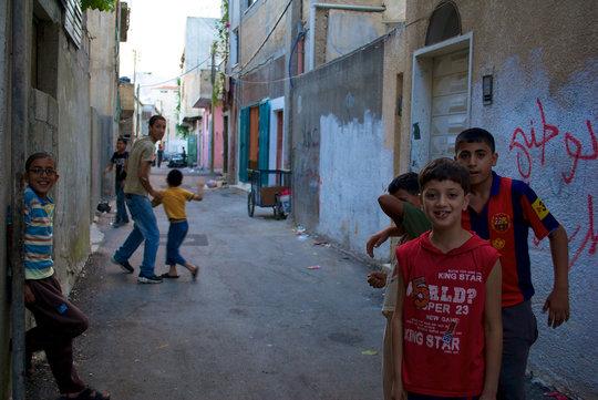 Playing in Balata Alleyways