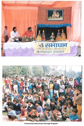 communityy awareness through puppet theatre
