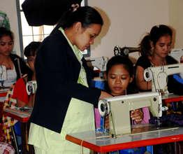 Training women to sew in Cambodia