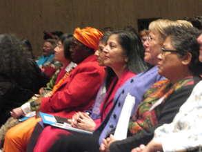 Hilda Chitsanzara with UN Women Director, Bachelet