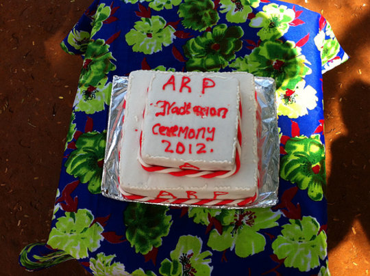 At the ceremonial cutting, only a cake was cut!