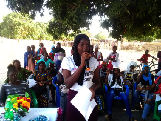 Addressing the community about gender-based violen