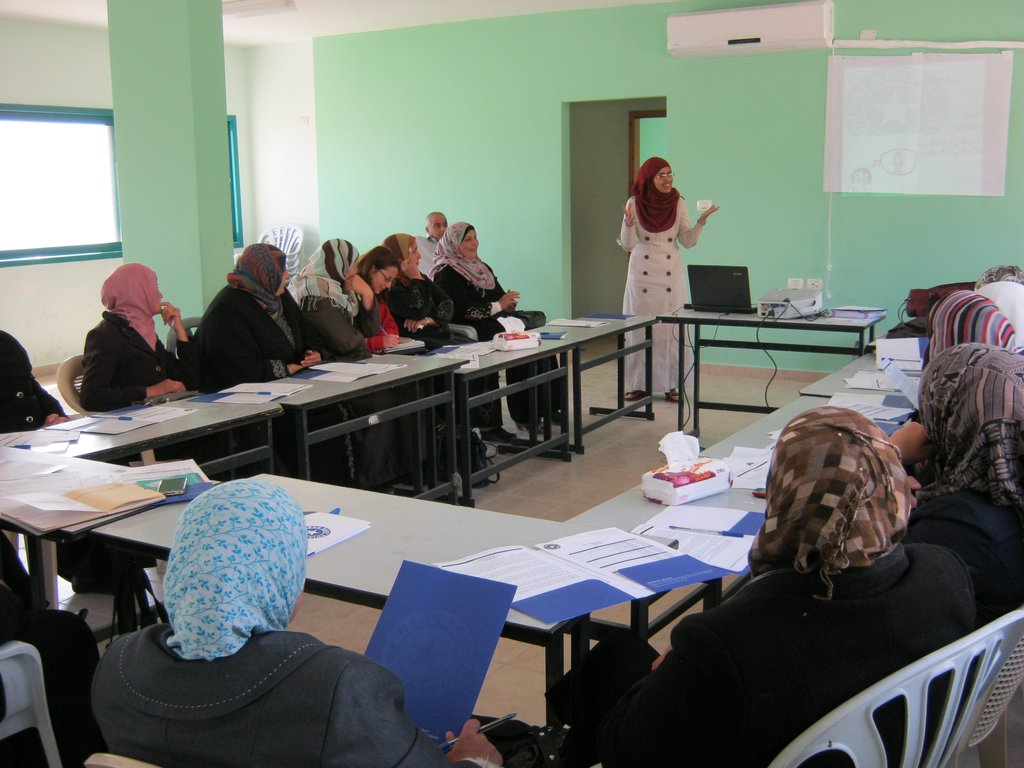 Women in Asira discuss gender issues