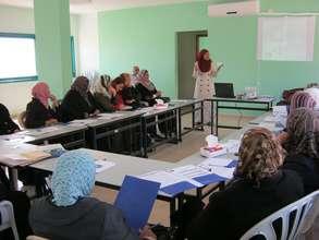 Women in Asira discuss gender issues