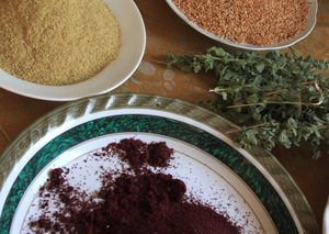 A variety of herbs to sell at market