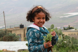 Young girl with thyme