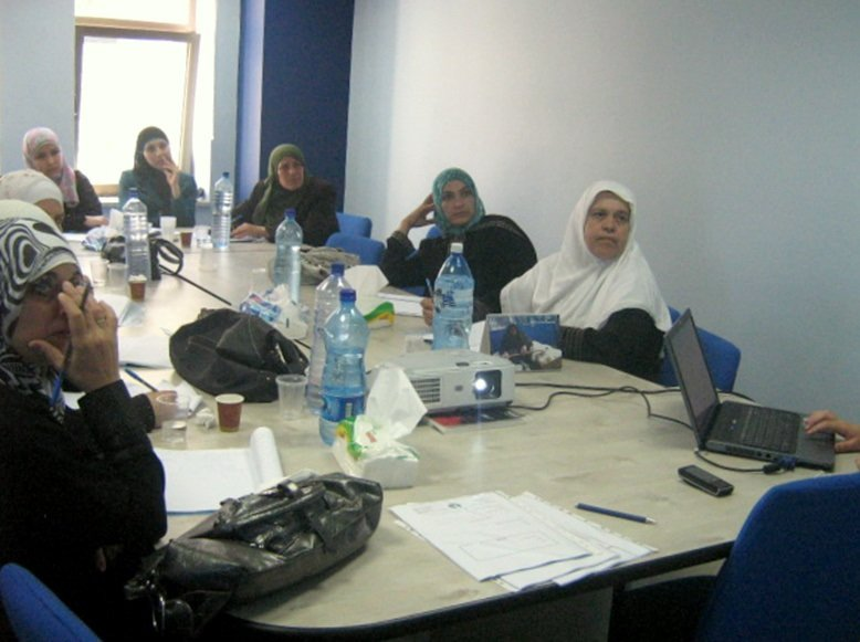 Palestinian women participate in NEF training