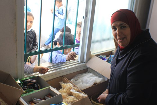 Operating a school canteen serving children snacks