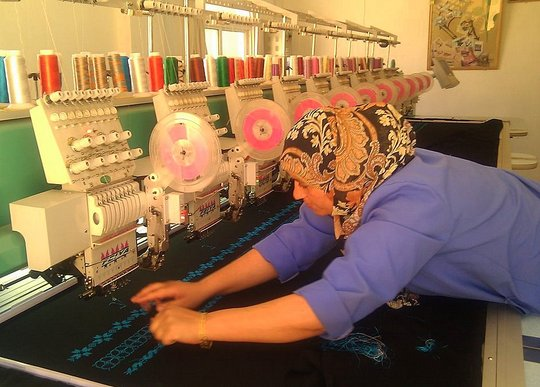 A project-supported sewing business in Jordan