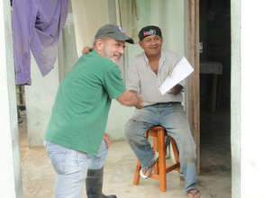 Isidro Blanco who is participating with his land