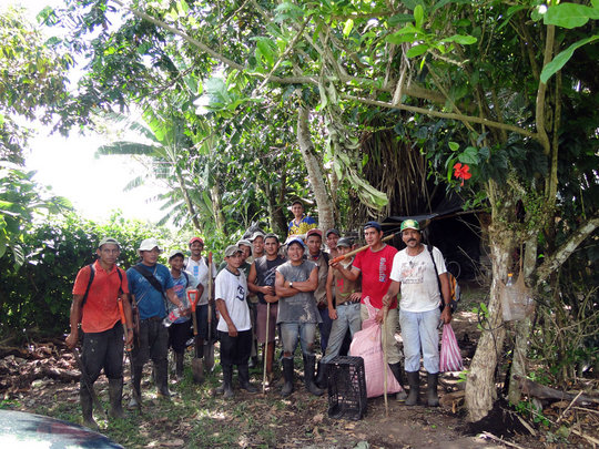 The Maleku planting team