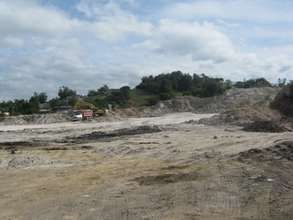 The site of the future Mirebalais Hospital