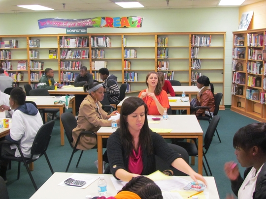 Goal Card Coaching Session at Vance Middle School