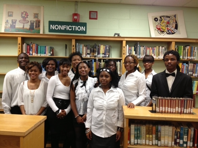 Goal Card students Inducted in the Honor Society