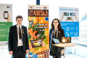 The My World of Atoms Team present their App.