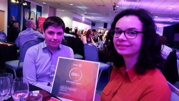 Ben and Rebecca win a Gold EDA award.