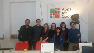 Leanne visits the Apps for Good team in London
