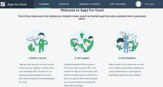 An example of our new educator dashboard