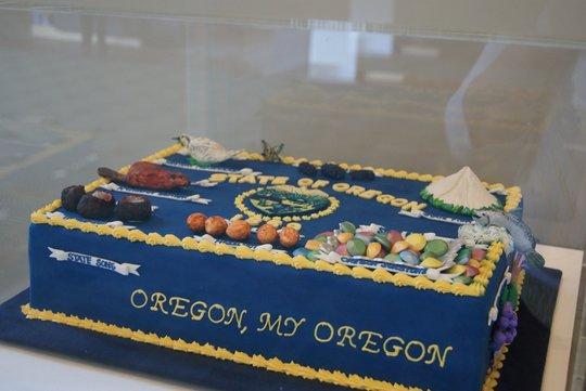 Oregon Statehood Day cake
