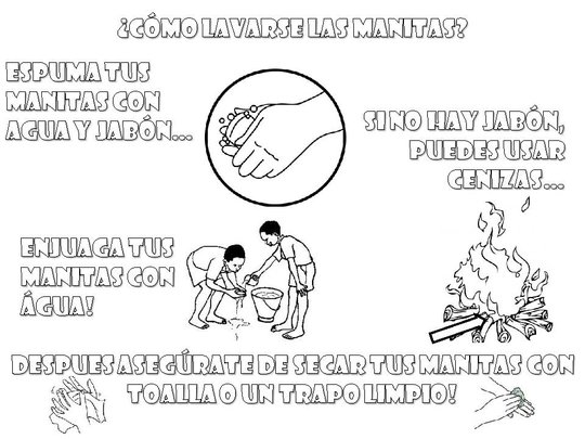 A coloring book developed to teach basic health