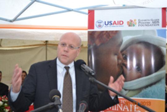 EGPAF CEO Charles Lyons speaks in Lesotho