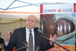 EGPAF CEO Charles Lyons speaks in Lesotho