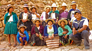 Women's group at a project community
