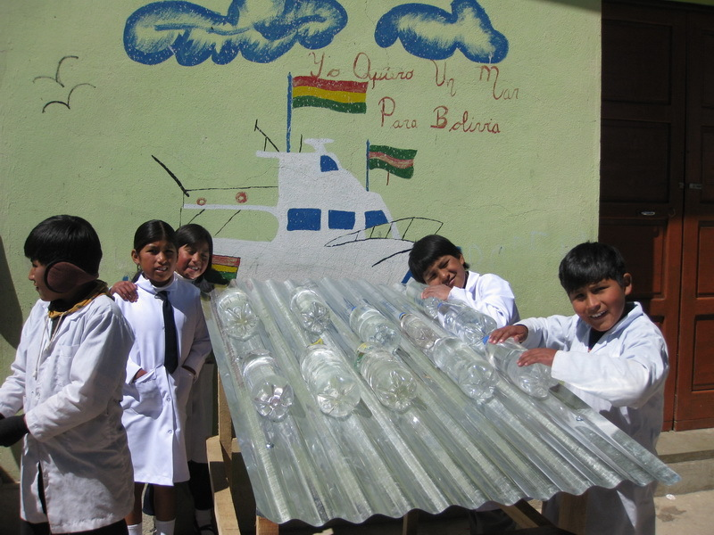 Putting SODIS into practice at a school in Bolivia