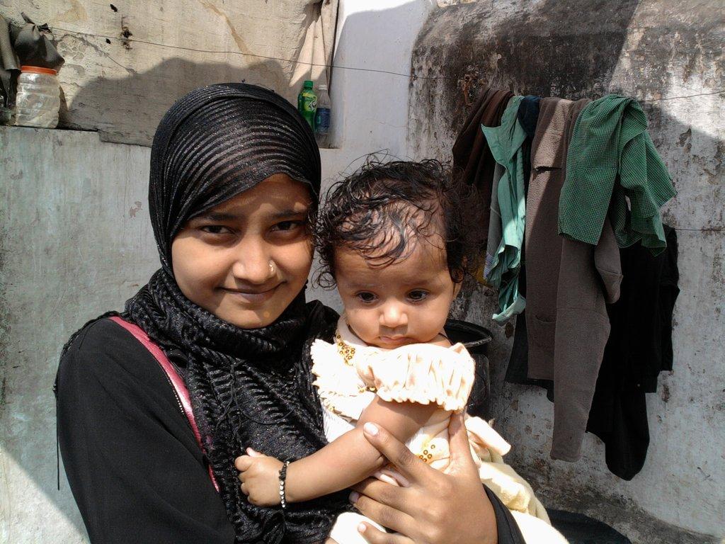 Sadekha and her daughter