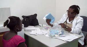 Distribution at hospital in Quartier-Morin,Haiti