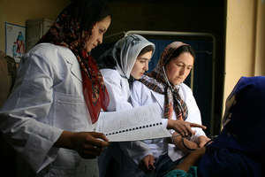 Community midwifery students in Afghanistan