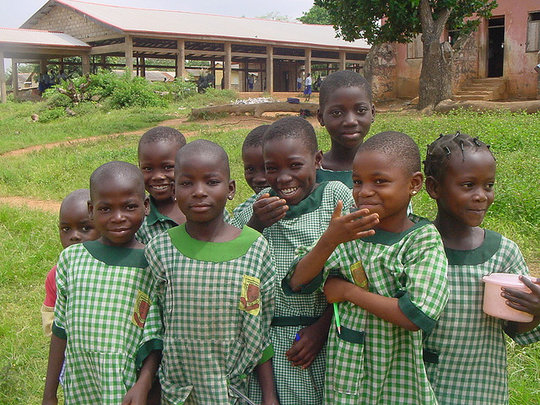 Nigerian children are protected from malaria