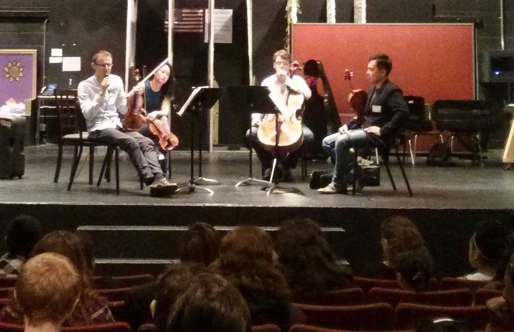 Amphion Quartet plays for the I Have a Dream Fdn