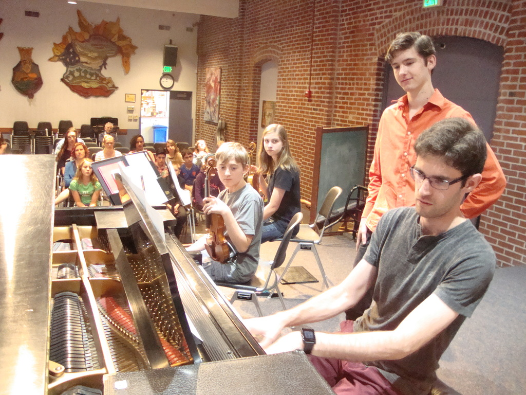 Protege pianist Yevgeny Yontov demonstrates