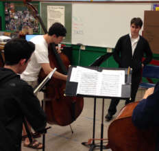 Sam Suggs works with Ptld Youth Philharmonic bass