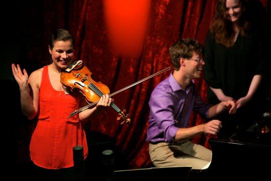 Bella Hristova & Daniel Schlosberg at Jimmy Mak