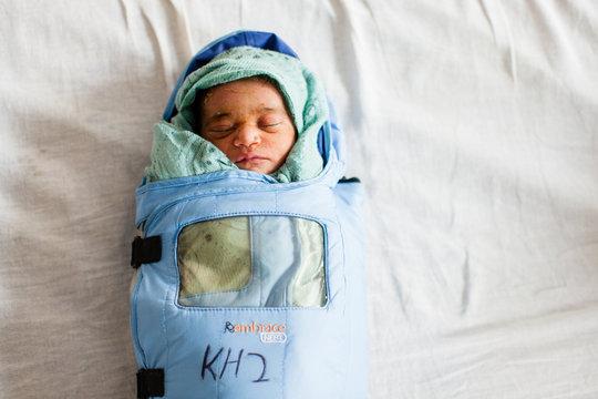 Infant in Embrace warmer