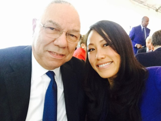 With Colin Powell, Former US Secretary of State