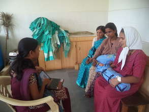 Mothers receive training at SM Halli clinic