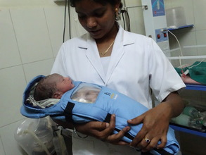 Priyanka with an Embrace baby at our SM Halli site