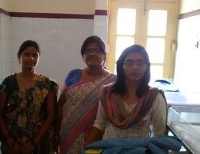 Unchahar Clinic staff with Embrace representative