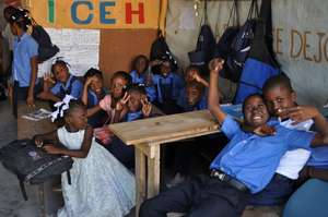 Happy class of scholarship recipients