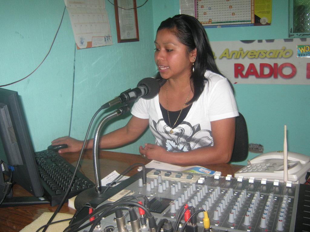 Rosy, a Volunteer at Radio Ixchel