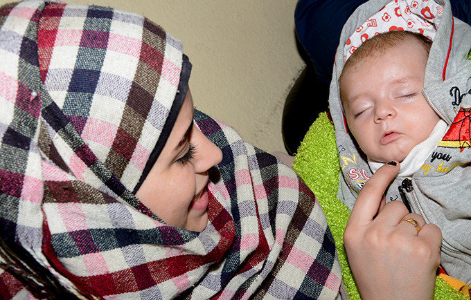 A mother and her newborn in Syria.