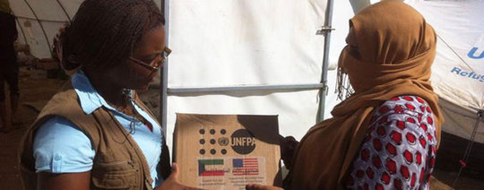 UNFPA distributes hygiene kits to women in Iraq
