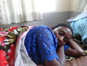 Furaha Jannette rests after delivering safely